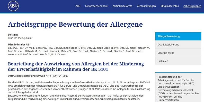 Arbeitsgemeinschaft Berufs- und Umweltdermatologie e. V. (ABD)
