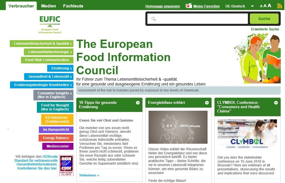 EUFIC – European Food Information Council