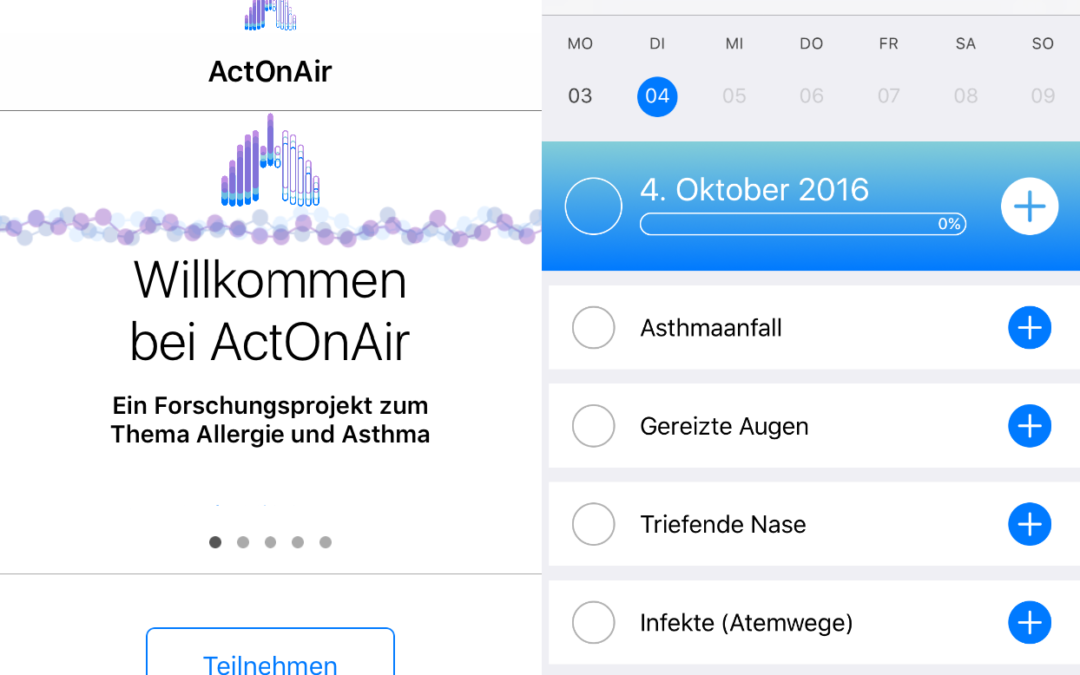 ResearchKit App ActOnAir