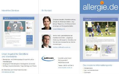 allergie.de: Broschüre