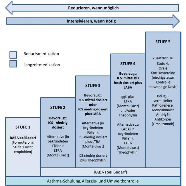 Stufenplan zur Langzeittherapie eines Erwachsenen