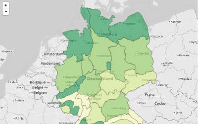Pollenflug-Karte
