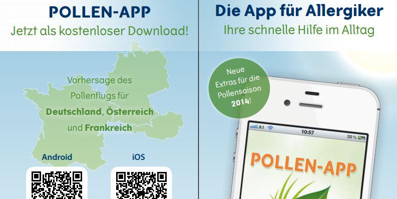 Pollen-App der Stiftung Deutscher Polleninformationsdienst