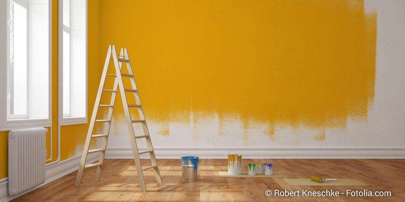 Renovieren von Innenräumen: Farben, Lacke und Co.